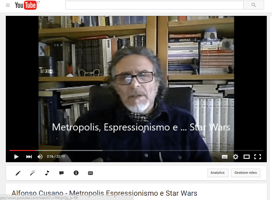 VIDEO N.13 METROPOLIS ESPRESSIONISMO e ...STAR WARS